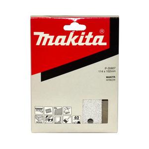Makita 1/4 Sheet White Sanding Sheets (114mm x 102mm) Hook & Loop Style - 40 Grit - 10 Pack