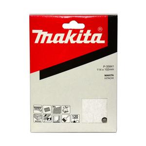 Makita 1/4 Sheet White Sanding Sheets (114mm x 102mm) Hook & Loop Style - 120 Grit - 10 Pack