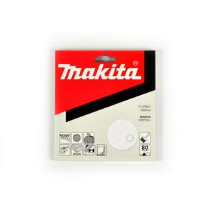 Makita 150mm White Sanding Discs Hook & Loop Style 80 Grit - 9 Holes - 10 Pack