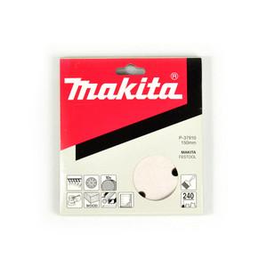 Makita 150mm White Sanding Discs Hook & Loop Style 240 Grit - 9 Holes - 10 Pack