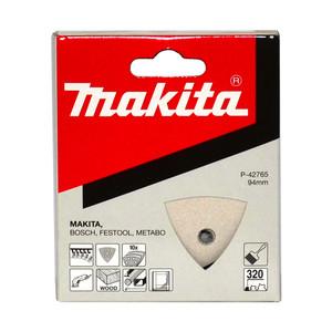 Makita 94mm x 94mm Delta/Multi-Tool Sanding Pads Hook & Look Style 320 Grit - 10 Pack