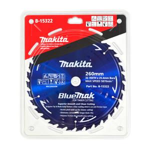 Makita BlueMak 260mm 32 Tooth TCT Wood Mitre Saw Blade - 25.4mm Bore