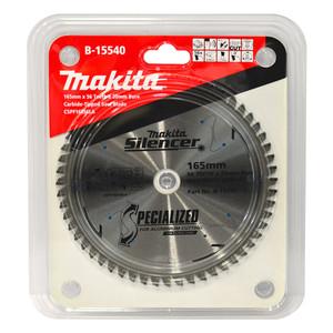 Makita Silencer 165mm 56 Tooth TCT Aluminium Circular Saw Blade - 20mm Bore