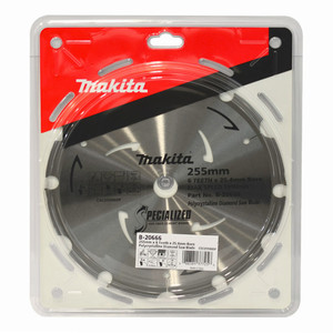 Makita Specialized 255mm 6 Tooth PCD Fibre Cement Saw Blade - 25.4mm Bore