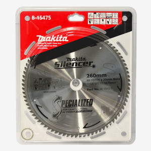 Makita Silencer 260mm 80 Tooth TCT Wood Mitre Saw Blade - 30mm Bore