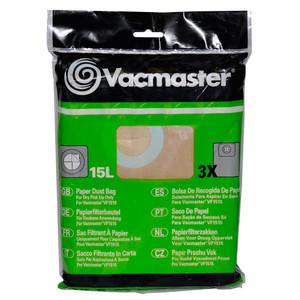 Vacmaster Vacuum Bags 15L Pack of 3 To Suit VMVF1515 - VM950136