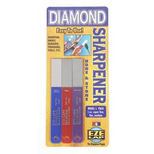 Eze-Lap 3 Piece (Super Fine, Fine & Medium Grit) All Purpose Diamond Sharpener Pack - LP3