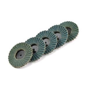 50mm 80 Grit Quick-Loc Zirconia Mini Flap Disc - 5 Pack