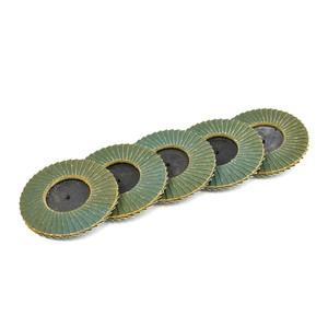 75mm 120 Grit Quick-Loc Zirconia Mini Flap Disc - 5 Pack