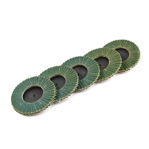 75mm 80 Grit Quick-Loc Zirconia Mini Flap Disc - 5 Pack