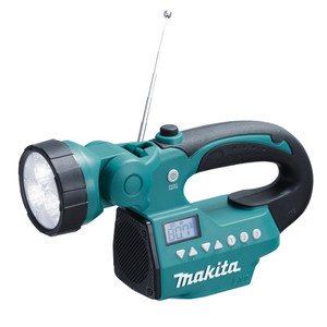 Makita 14.4V & 18V Cordless Rechargeable LED Torch Radio 'Skin' - Tool Only - DMR050