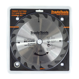 TT 235mm 20 Tooth TCT Circular Saw Blade For Wood Cutting