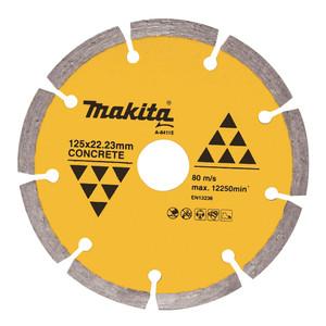 Makita Standard 125mm Segmented Concrete & Marble Diamond Blade - 22.2mm Bore