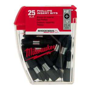 Milwaukee Shockwave #2 Phillips Insert Bits - 25 Pack - 48324604