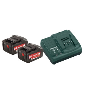Metabo 18V Starter Pack, 2 x 5.2Ah Batteries, Charger - MESTARTERPACK
