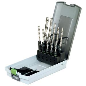 Festool 10 Piece 3mm-10mm Metric HSS Drill Bit & CENTROTEC Holder Set
