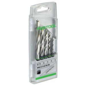 Festool 5 Piece 3mm-8mm CENTROTEC Brad Point Wood Drill Bit Set