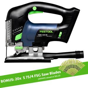 Festool PSBC 420 14.4/18 Volt CARVEX Cordless 'D' Handle Jigsaw 'Skin'