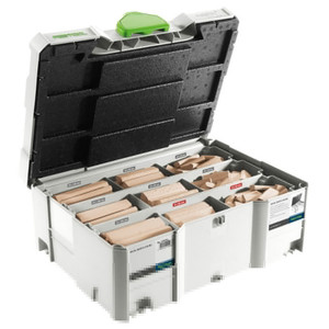 Festool DOMINOs XL 8mm/10mm Starter Kit in Systainer - Beech