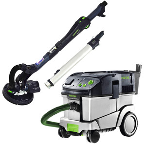Festool LHS 225 PLANEX Sander & CT 36 Dust Extractor Set with MAXI Systainer