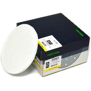Festool 150mm 'VLIES' Polishing Fleece - White Fine Grit - Oil & Waxing - 10 Pack