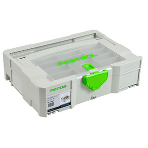 Festool SYS 1 T-Loc Systainer Storage Box With Lid Compartments