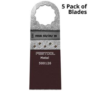 Festool Vecturo 50 x 35mm Bi-Metal Multi-Tool Saw Blade - 5 Pack - Metal