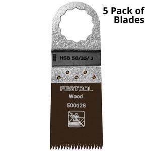 Festool Vecturo 50 x 35mm Multi-Tool Saw Blade - 5 Pack - Wood