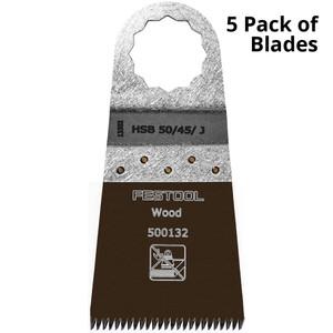 Festool Vecturo 50 x 45mm Multi-Tool Saw Blade - 5 Pack - Wood