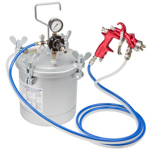 Prowin 10L Pressure Feed 1.2mm Nozzle Spray Gun Kit With 3m Hose -  PW10LTRK