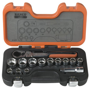 Bahco 14 Piece Go-Thru Socket Set - S140T