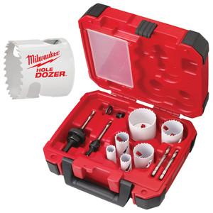 Milwaukee 10 Piece Hole Dozer Hole Saw Kit - 49224095