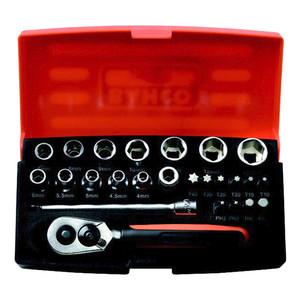 "Bahco 25 Piece 1/4"" Drive Metric Mini Socket Set - BA-SBSL25"