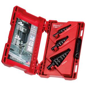 Milwaukee 3 Piece Metric Step Drill Bit Set - 48899399