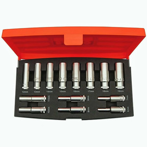 "Bahco 14 Piece 3/8"" Deep Drive Socket Set - S1214L"