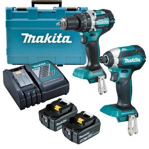 Makita 18V 5.0Ah Li-ion Brushless 2 Piece Combo Kit - DLX2180TX