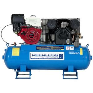 Peerles PV25PFB 'Fatboy' 545 L/M Honda Powered Belt Drive Stationary Petrol Air Compressor - 110 Litre Tank - 00564