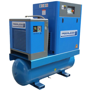 Peerless 'Full Feature' 20HP 2400 L/M Rotary Screw Compressor with Integrated Dryer and Tank - HQ20/8