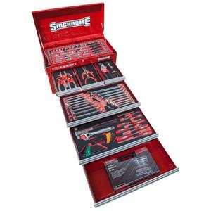Sidchrome 199 Piece Metric & AF Apprentice Tool Kit - 6 Drawer Tool Chest - SCMT10137