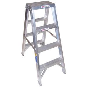 Werner 4 Step Aluminium Double Sided Ladder - T404AZ