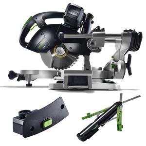 Festool KS 60 E-SET KAPEX 1200 Watt 216mm Slide Compound Mitre Saw with Smart Bevel & LED Spotlight - 561695