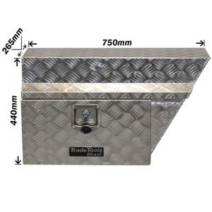 Renegade Industrial Aluminium Chequer Plate Underbody Ute Box - Right Side - UTBR