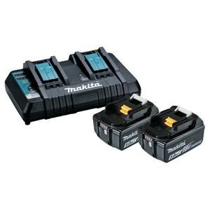 Makita 18V 2 x 5.0ah Battery & Dual Port Charger Combo - 198928-5
