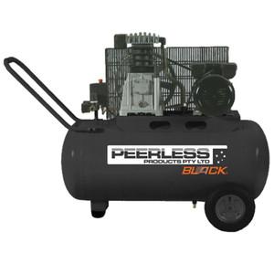 Peerless BLACK 280 L/M Belt Drive Air Compressor with Mini Regulator - 50 Litre Tank - PB17000