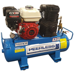 Peerless P17 350 L/M Skid Tank Petrol Air Compressor - 55 Litre Tank - 00128SK