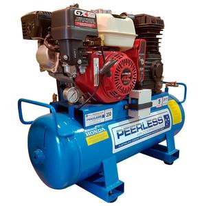 Peerless P17 350 L/M Electric & Remote Start Petrol Air Compressor - 68 Litre Tank - 00128ESRS