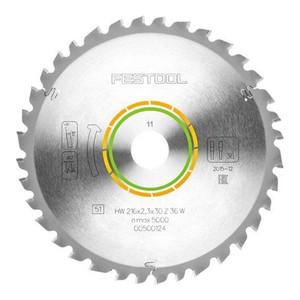 Festool 216mm 36 Tooth Universal Saw Blade