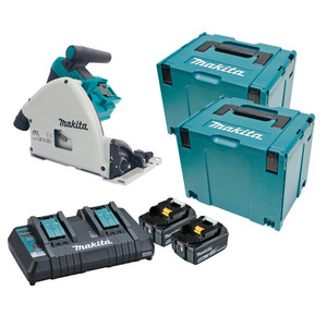 Makita 36V (18Vx2) 5.0ah 160mm Brushless Plunge Cut Saw 'Kit' with Connector Case 4 - DSP600PT2J