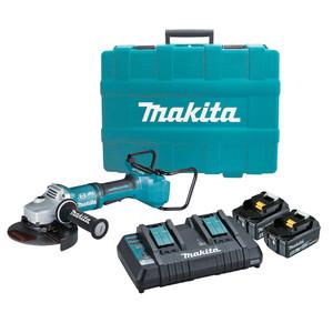 "Makita 36V (18Vx2) 5.0ah 180mm(7"") Brushless Angle Grinder 'Kit' - DGA700PTX1"