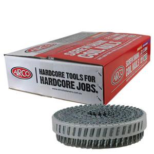Airco 52mm 15 Deg Screw Shank Stainless Steel Decking Coil Nails Box of 1,800 - YF522553
